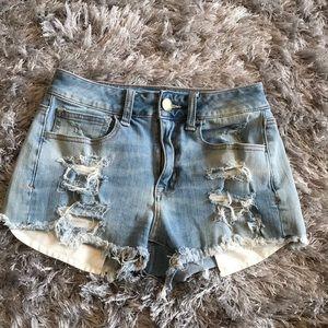 American Eagle Hi-Rise Shortie Shorts